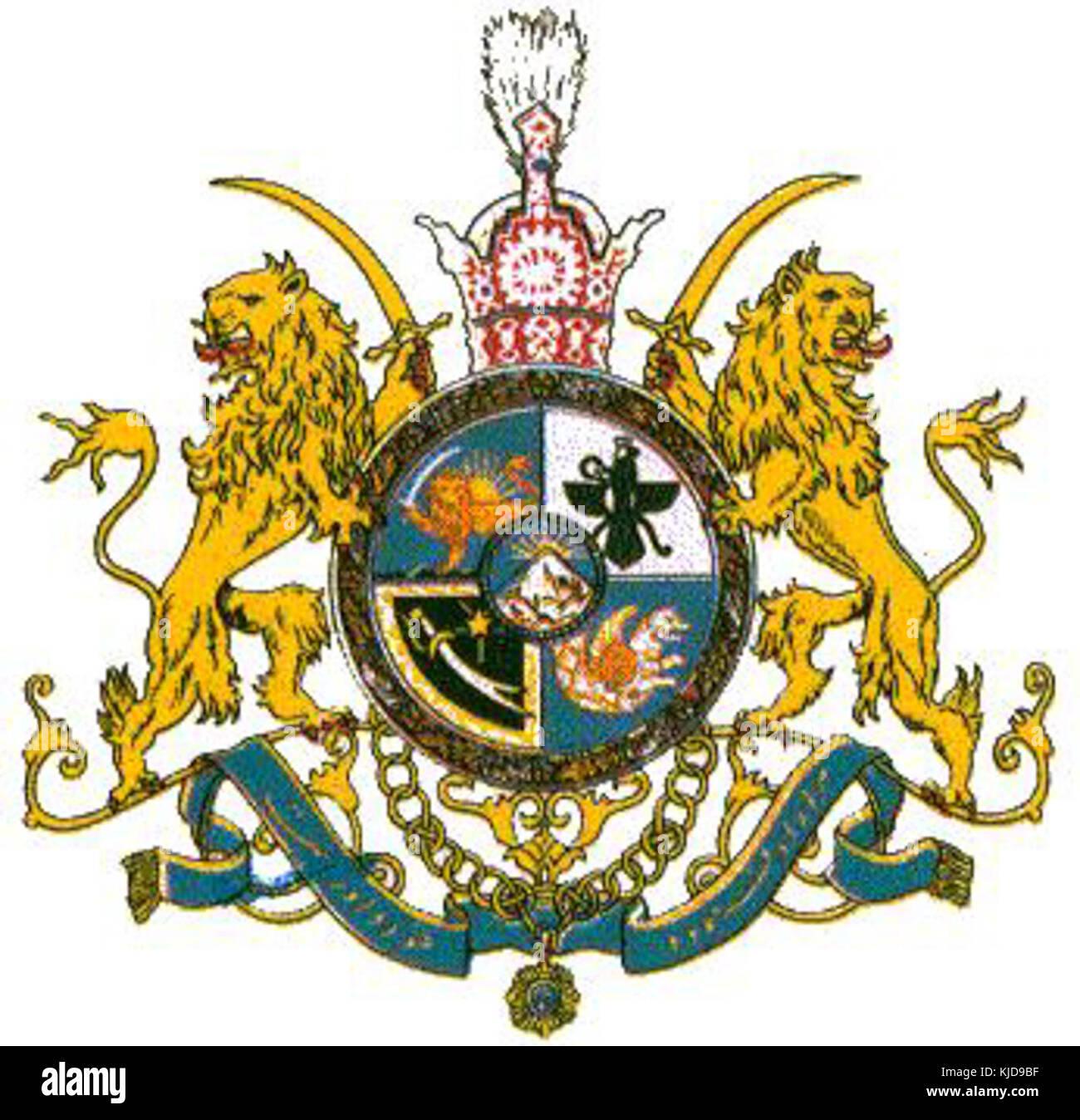 Coat of arms of iran stock photos coat of arms of iran stock coat of arms of pahlavi dynasty and iran stock image buycottarizona Choice Image