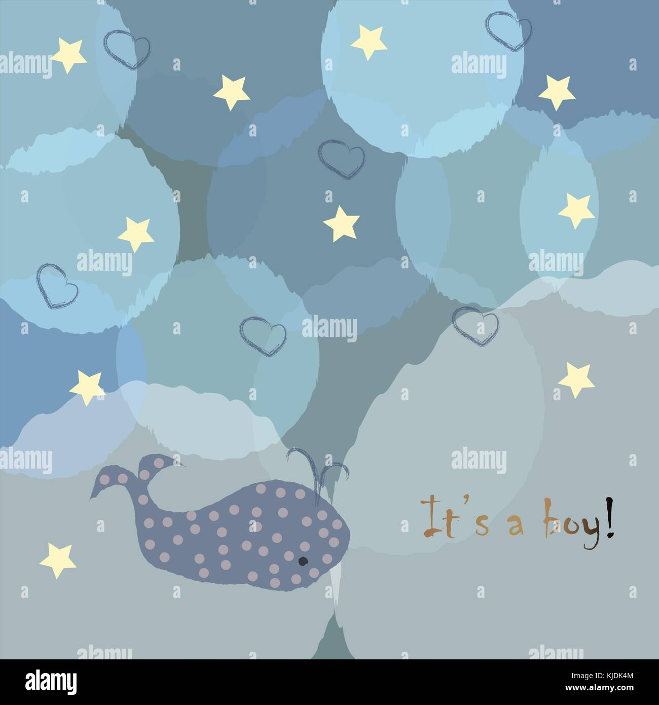 Its A Boy Announcement Greeting Card With Message Vector Stock - Boy announcement