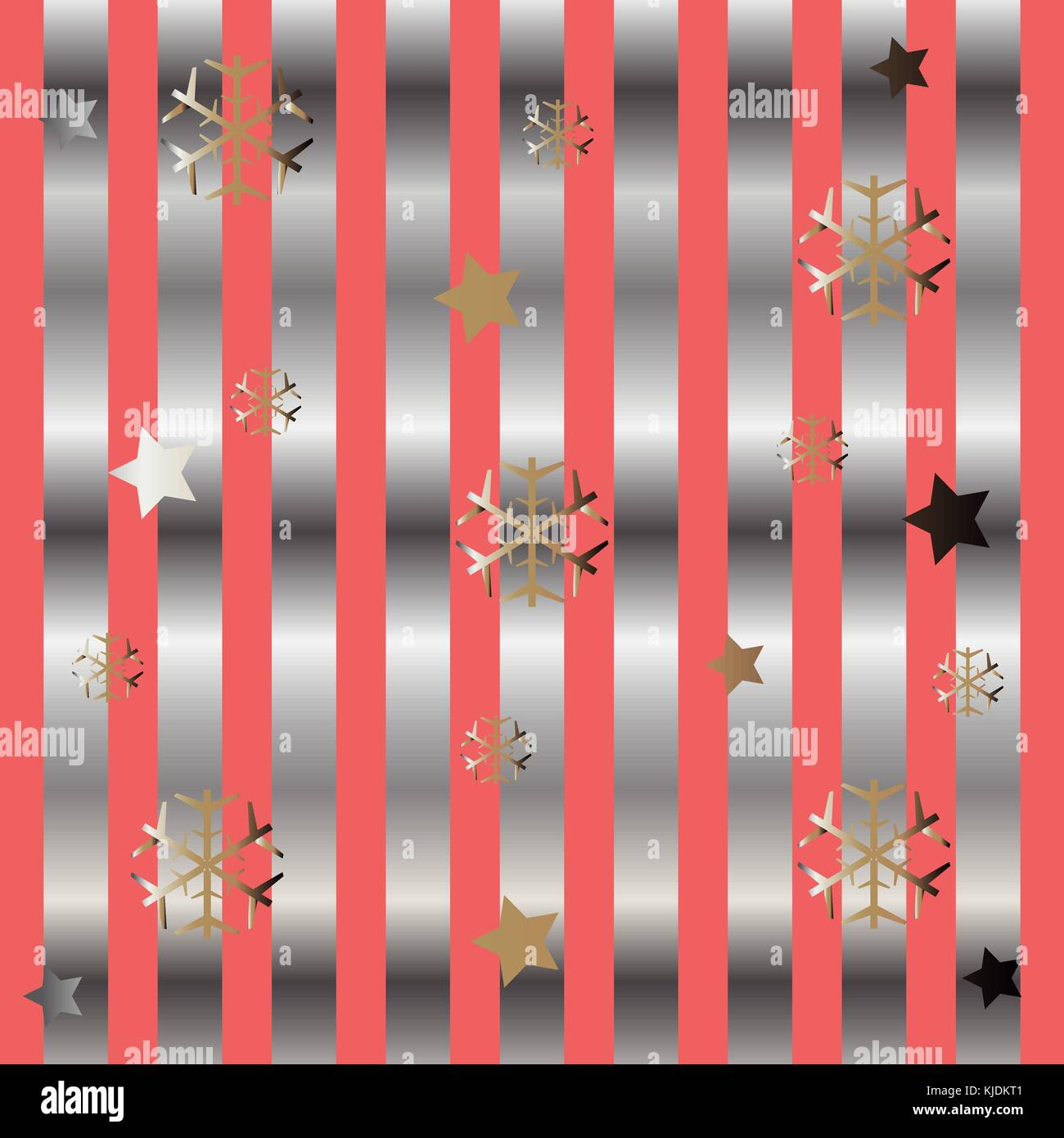 Funky Pattern with Snowflakes. Great for wedding cards, postcards ...
