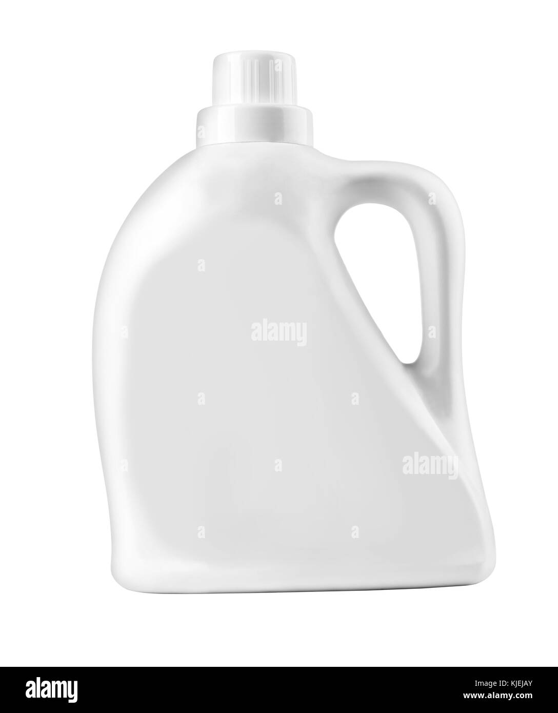 White Plastic Bottle For Liquid Laundry Detergent Cleaning Agent Bleach Or Fabric Softener