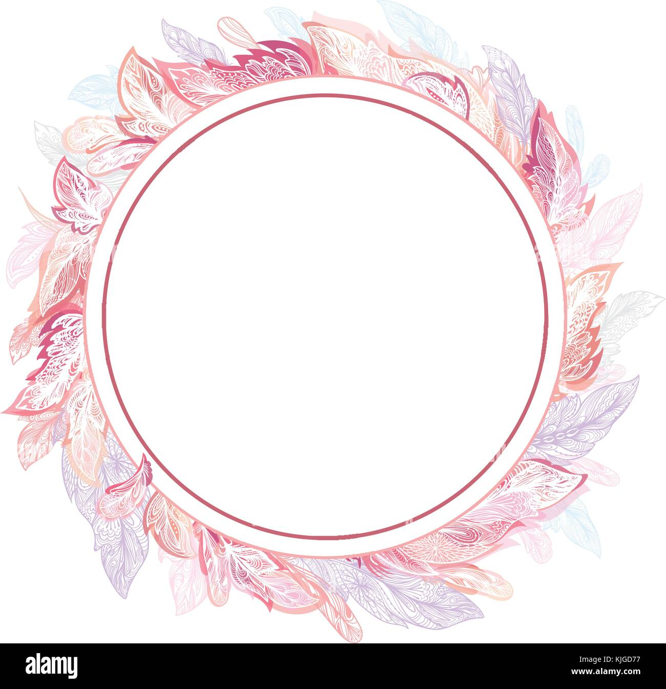 Circle detailed ornamental boho chic elegant card invitation circle detailed ornamental boho chic elegant card invitation template in pink and rose colors stopboris Image collections