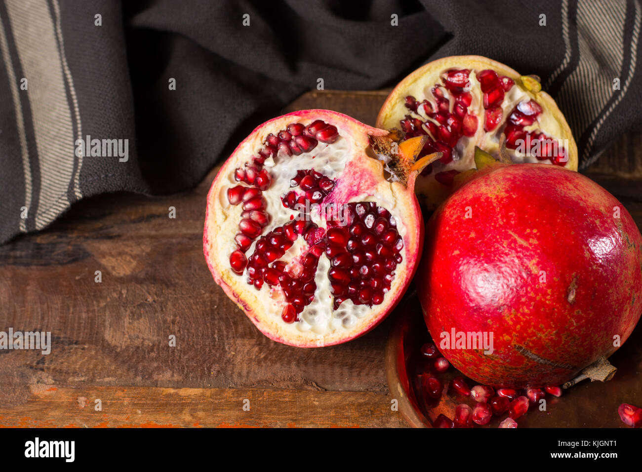 healthy fruit red pomegranate rich of vitamin c also known as a
