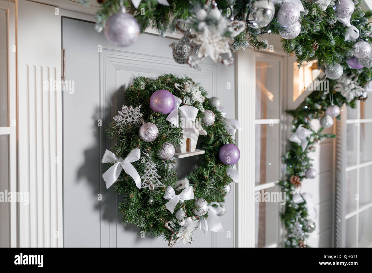 house entrance decorated for holidays. Christmas decoration. garland on corridor design, house building design, house front design, living room design, driveway design, house entryway design, building entry design, dining room design, house architecture design, house hall design, house walkway design, house stage design, house green design, house balcony design, church bookstore design, house key design, modern beach house interior design, house floor design, house study design, house playground design,