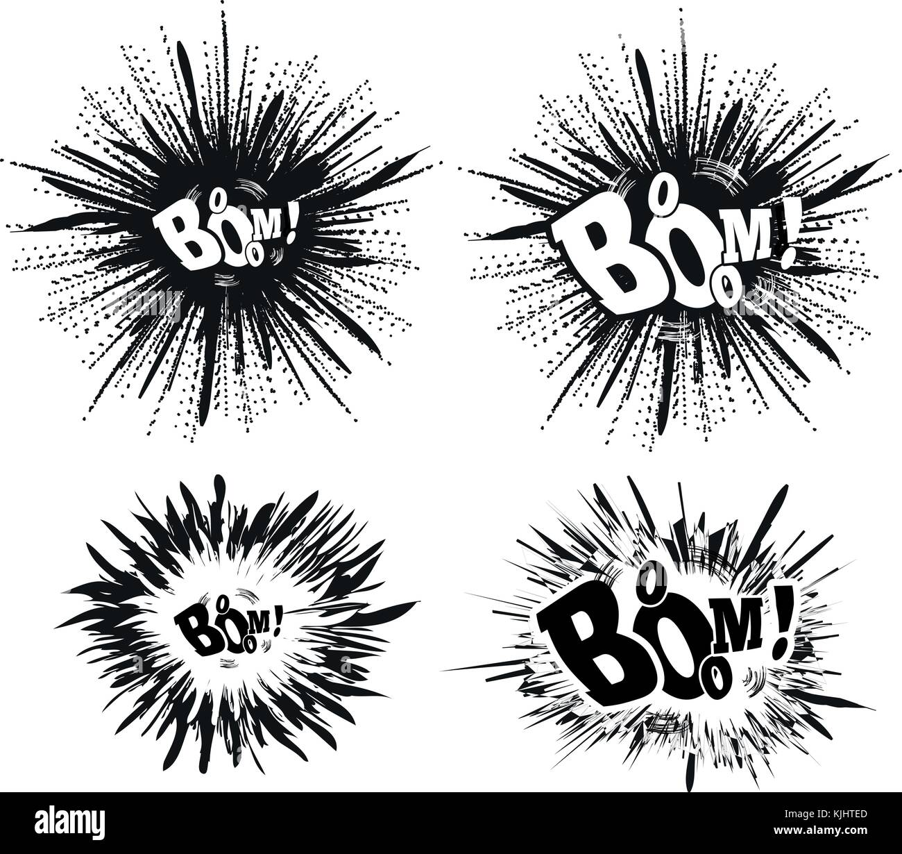 comic speech bubble stars explosion vector stock vector art