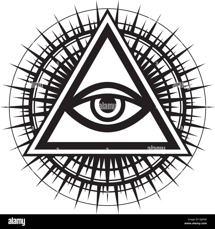 The eye of providence stock photos the eye of providence stock all seeing eye of god the eye of providence eye of omniscience biocorpaavc Choice Image