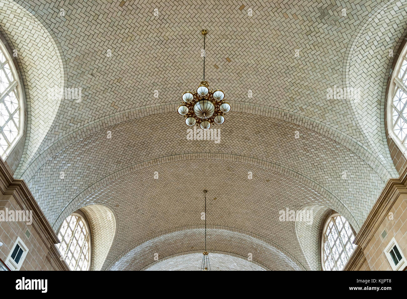Ceiling tiles stock photos ceiling tiles stock images alamy interior of neoclassical architecture ellis island ceiling tiles and chandelier new york city new dailygadgetfo Choice Image