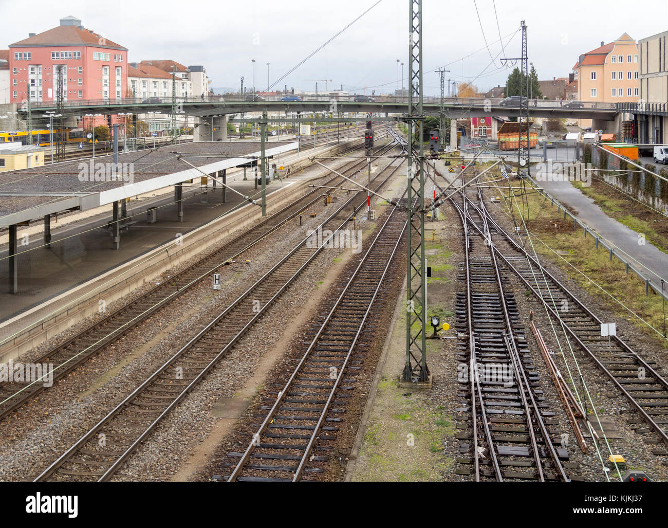 Aerial view train depot stock photos aerial view train for Depot regensburg