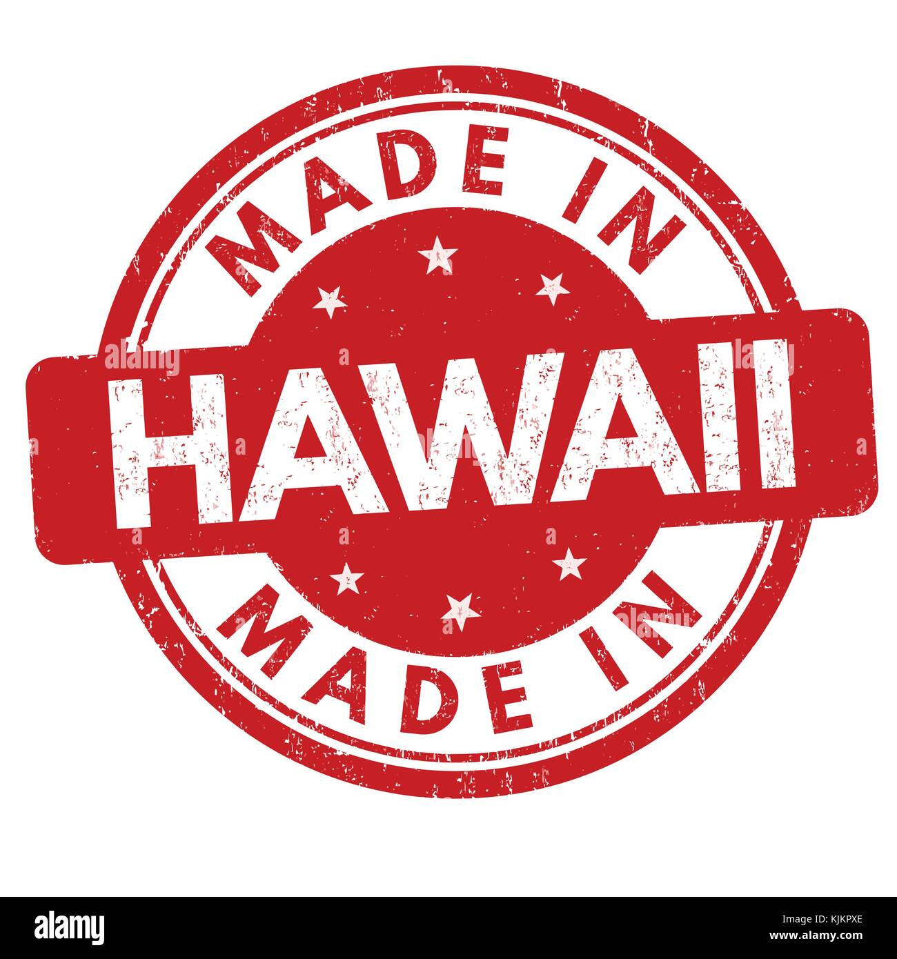 Made In Hawaii Grunge Rubber Stamp On White Background Vector Illustration