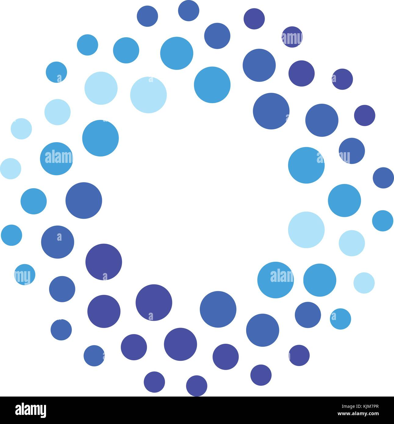 H2o chemical symbol stock photos h2o chemical symbol stock images abstract blue color round logo from circles water vector logotype template innovative cleaning and buycottarizona Choice Image