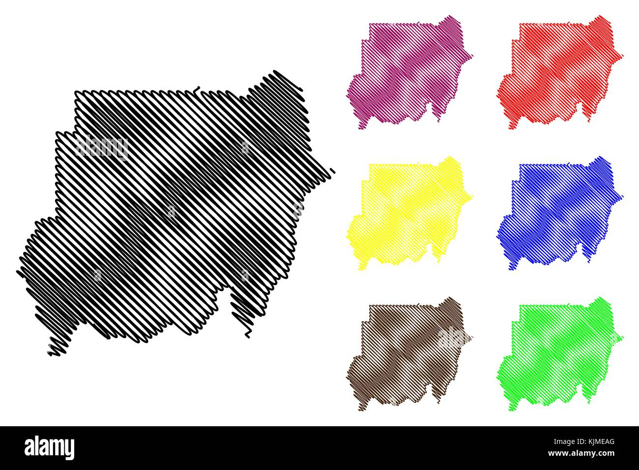North Sudan Map Vector Illustration Scribble Sketch Republic Of - Republic of the sudan map