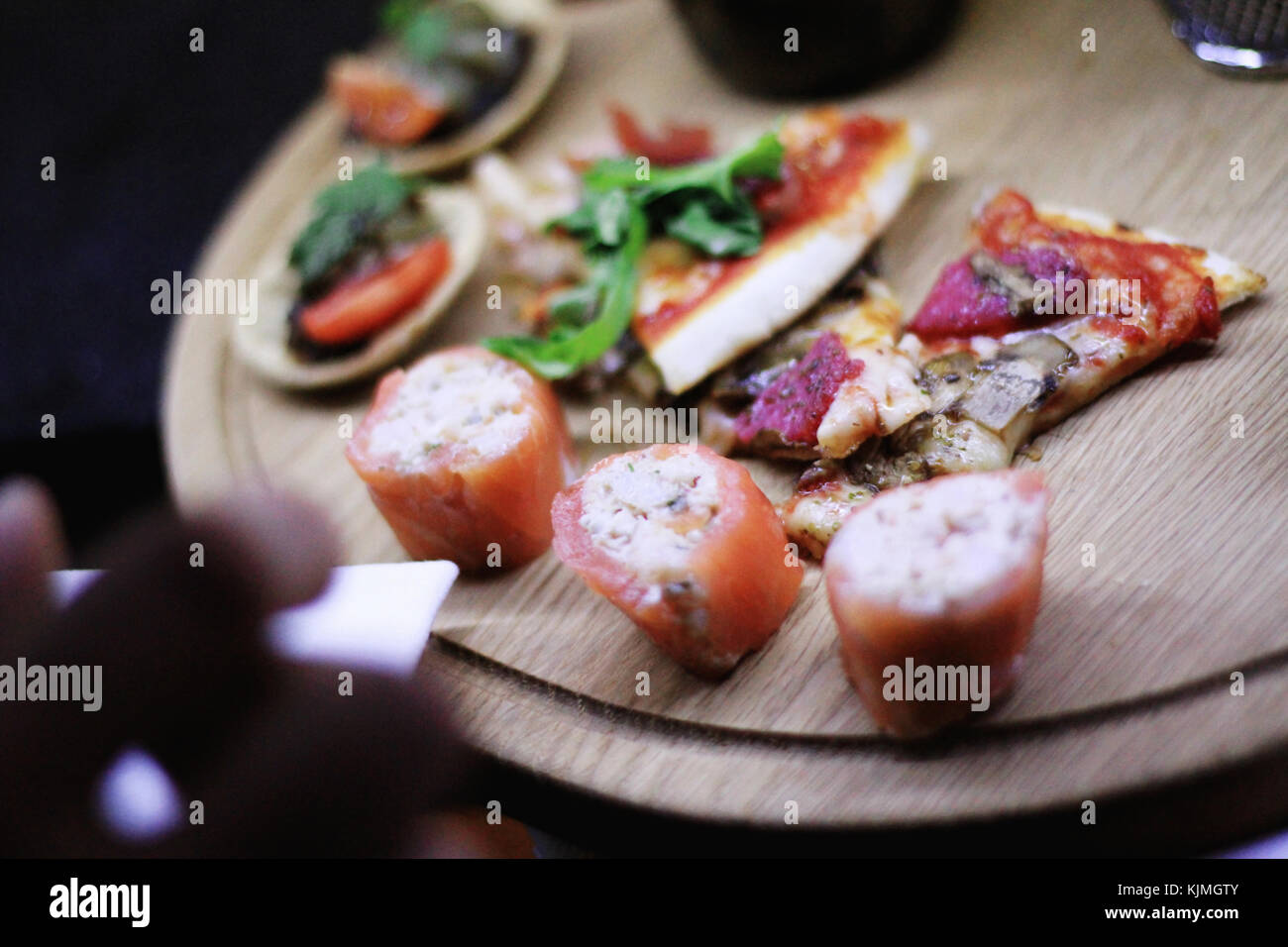 Canape selection stock photos canape selection stock for Canape platters