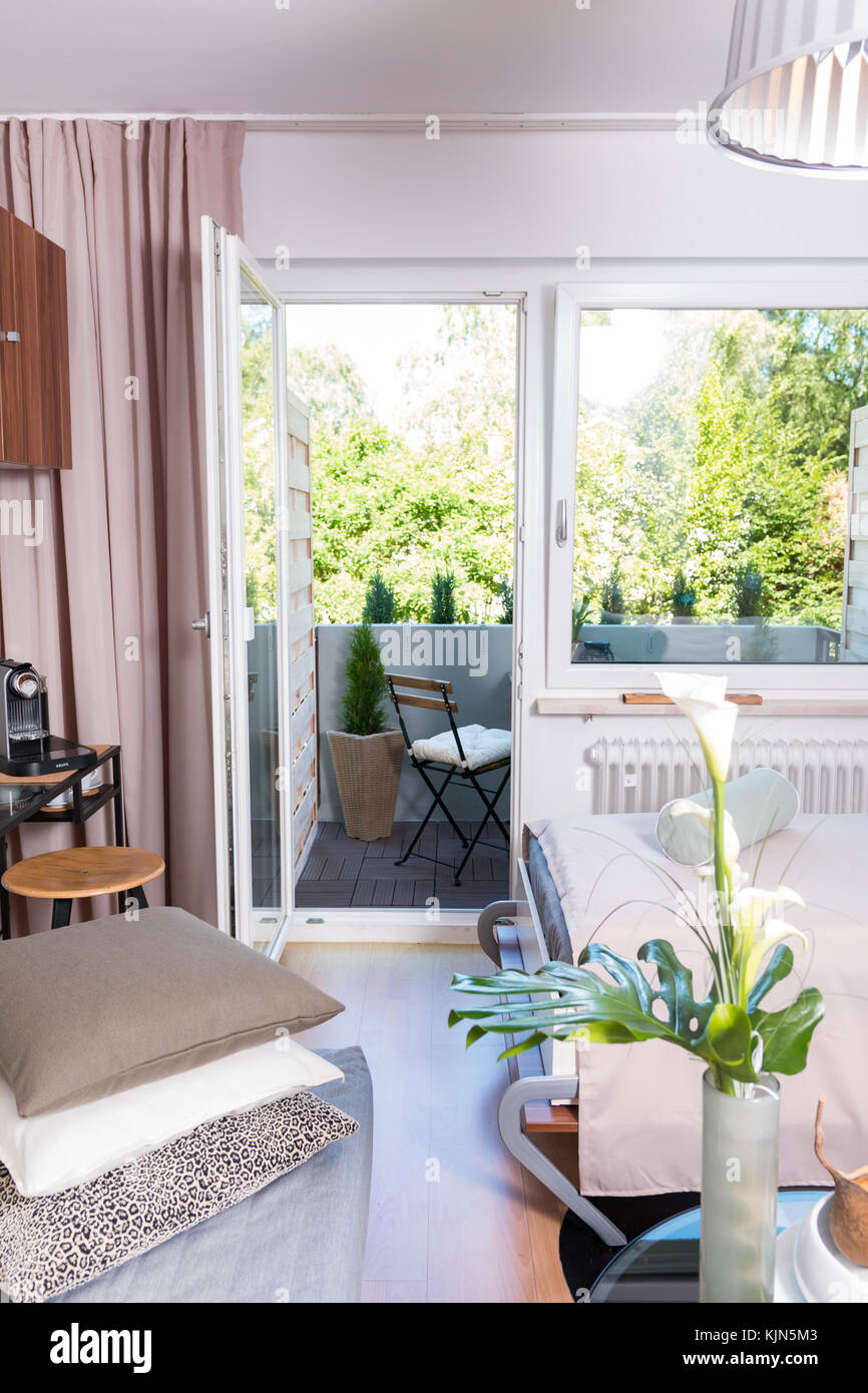 Cosy Flat Of A Student. Apartment Living. Home Space.