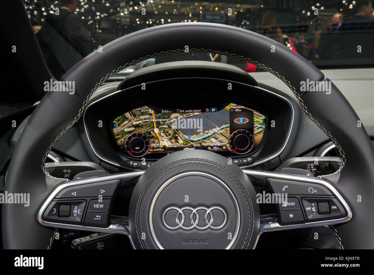 Geneva Switzerland March 1 2016 Audi R8 Sports Car Interior