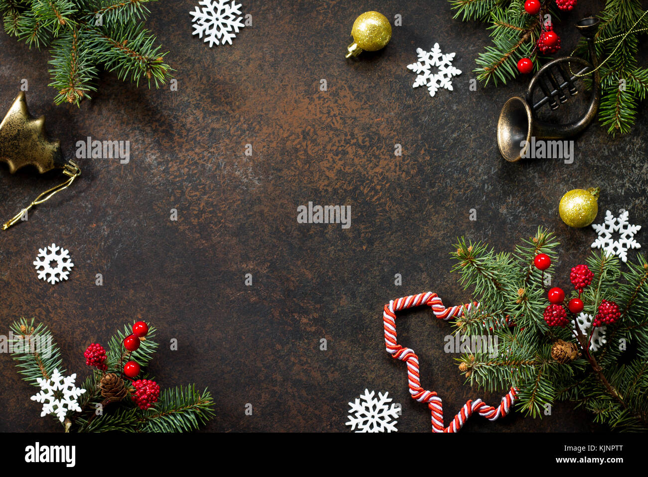 Christmas Background Frame Or Greeting Xmas Card Christmas Tree And
