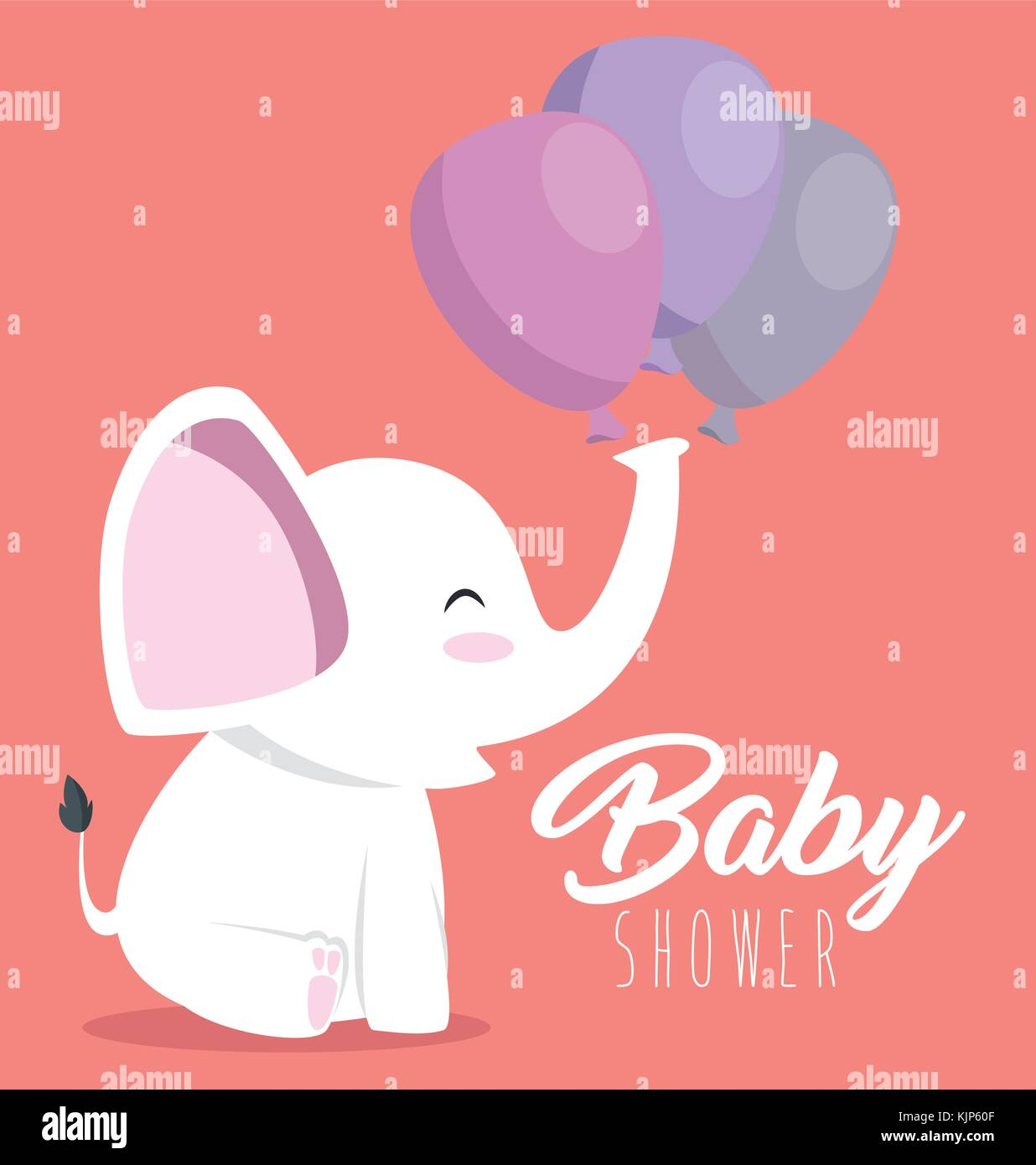 Baby shower greeting card with a cute elephant vector illustration baby shower greeting card with a cute elephant vector illustration graphic design m4hsunfo
