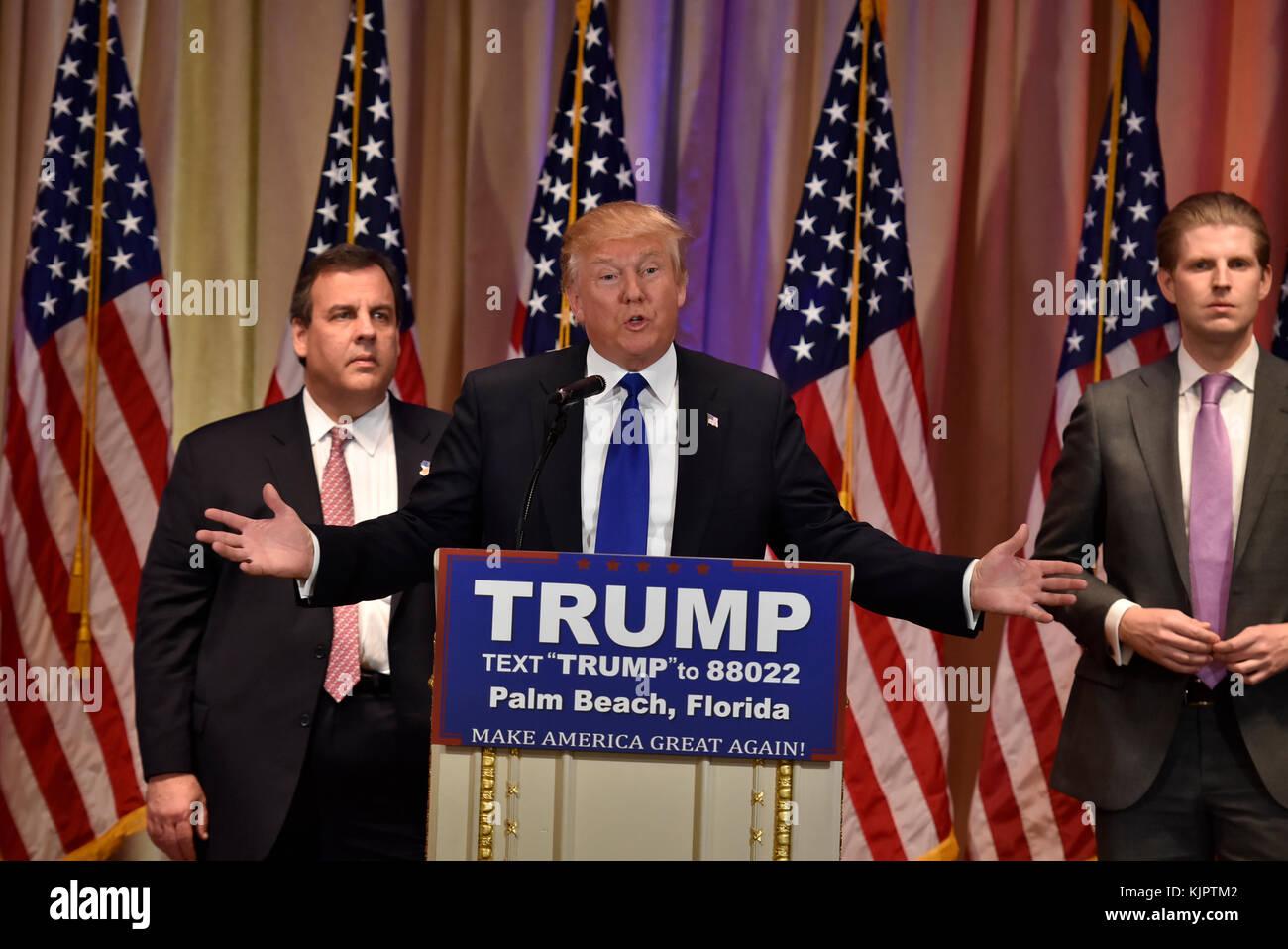 palm beach fl march 01 republican presidential frontrunner