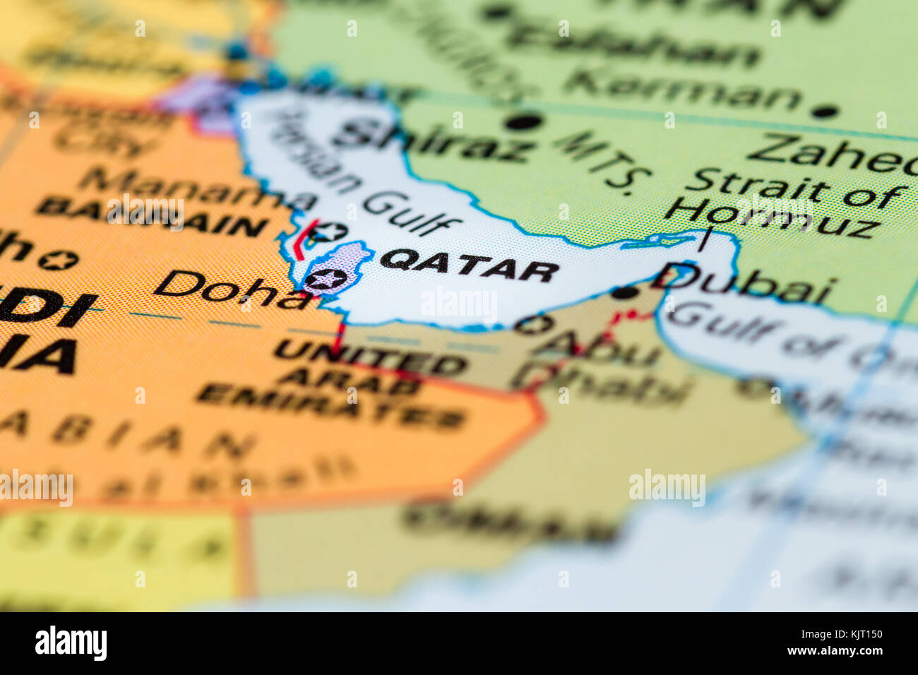 Close up of a world map with the country of qatar in focus stock close up of a world map with the country of qatar in focus publicscrutiny Image collections