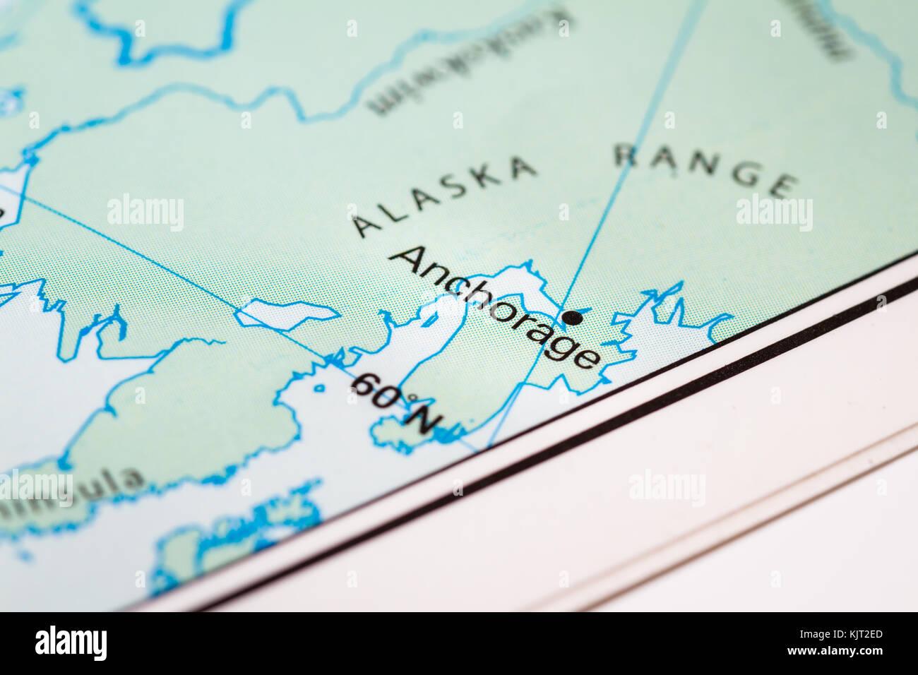 Anchorage Alaska World Map