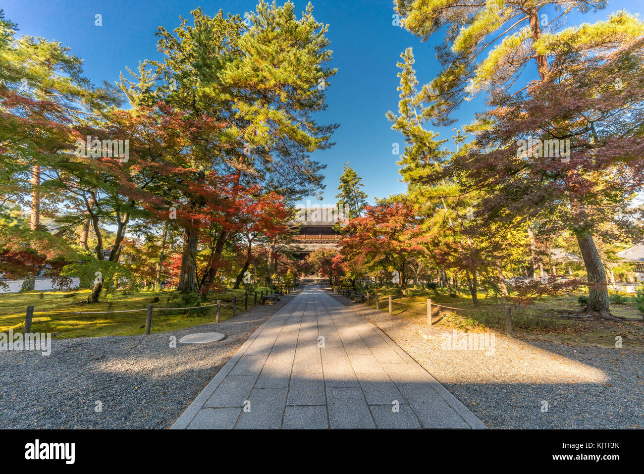 Early morning without tourists, Autumn colors fall foliage view of ...