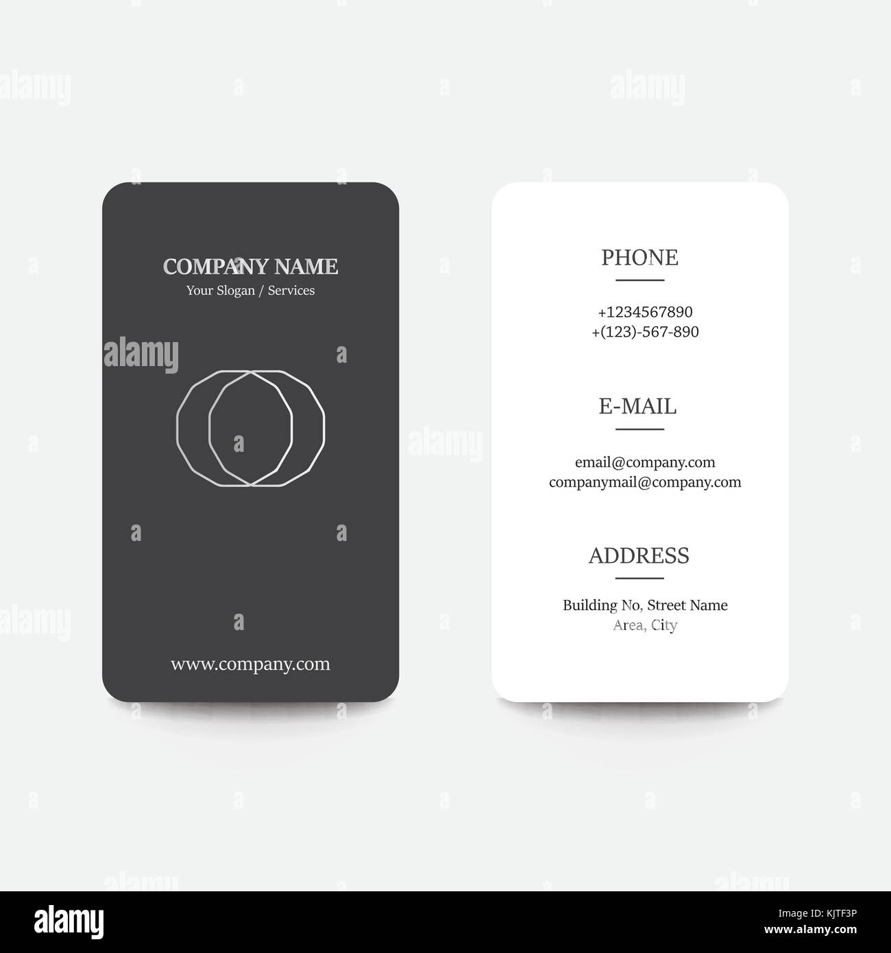 clean flat design business card with creative concepts and modern