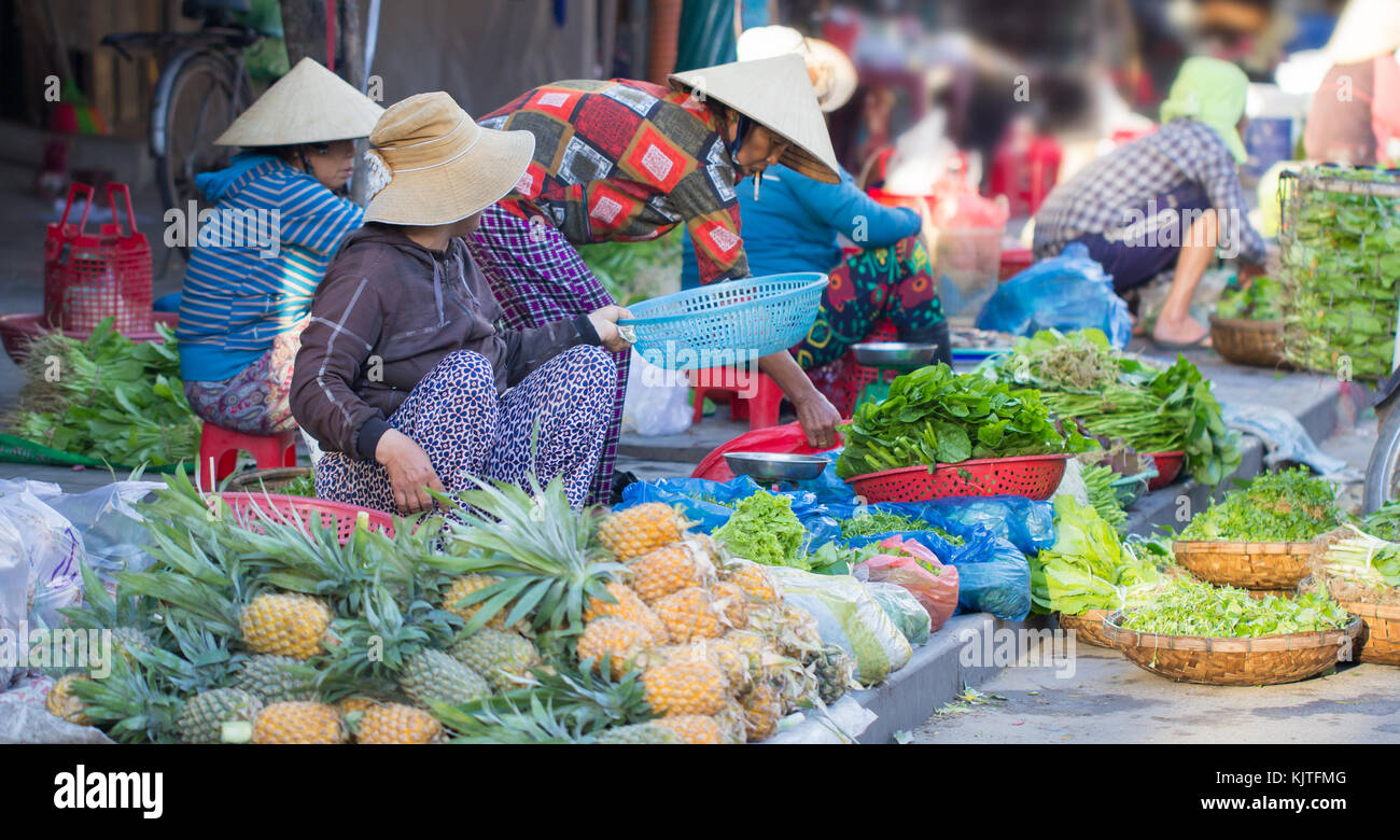 Stock Photo - Saigon, Vietnam - June 2017: asian street food market, Saigon, Vietnam