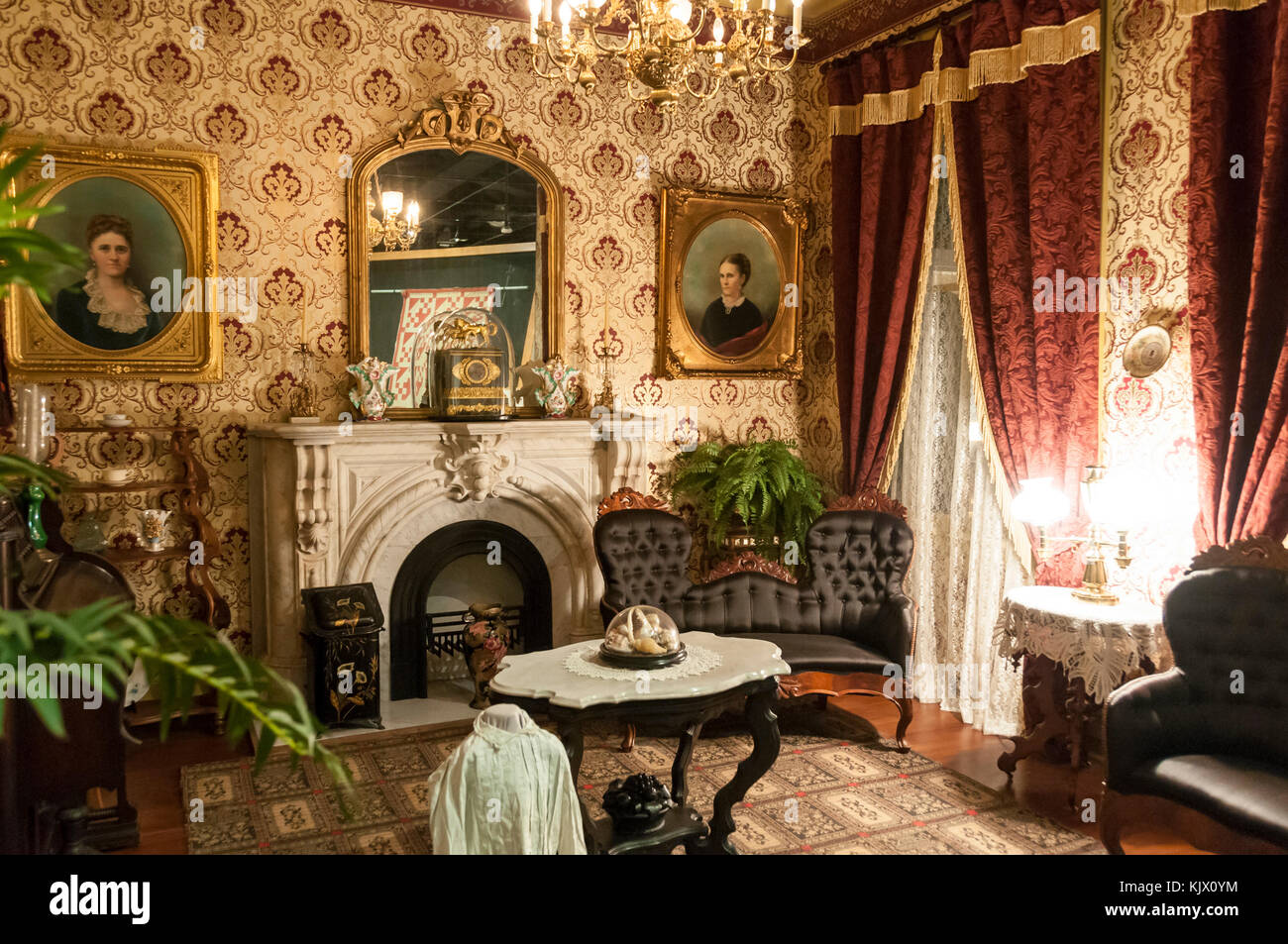 Victorian parlor stock photos victorian parlor stock for Parlor or living room
