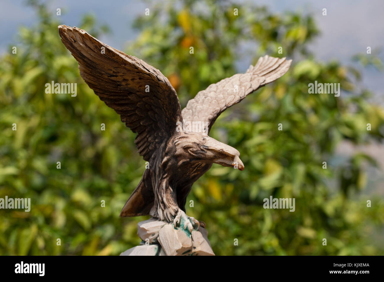 Eagle Statue In A Spanish Garden; Spain