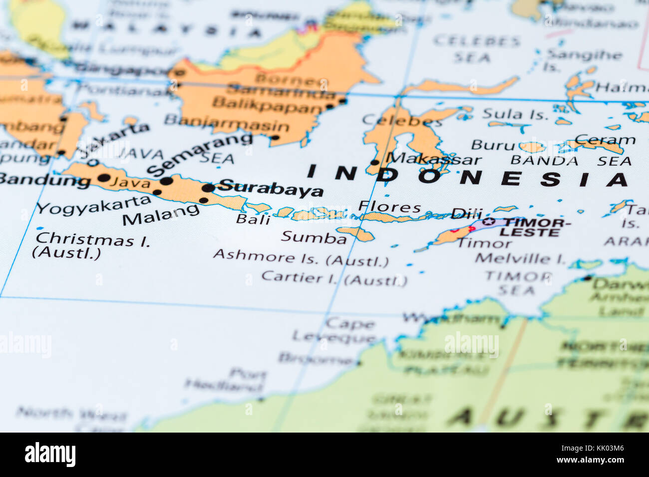 Close up of bali and other south pacific islands on a world map close up of bali and other south pacific islands on a world map gumiabroncs Images