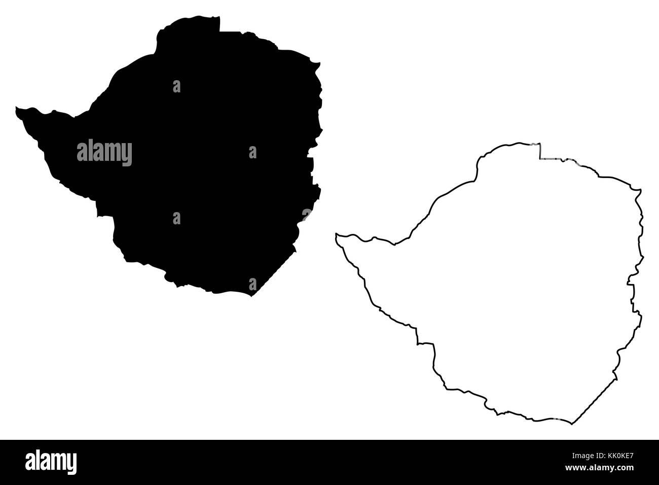 Zimbabwe Map Vector Illustration Scribble Sketch Republic Of - Republic of zimbabwe map