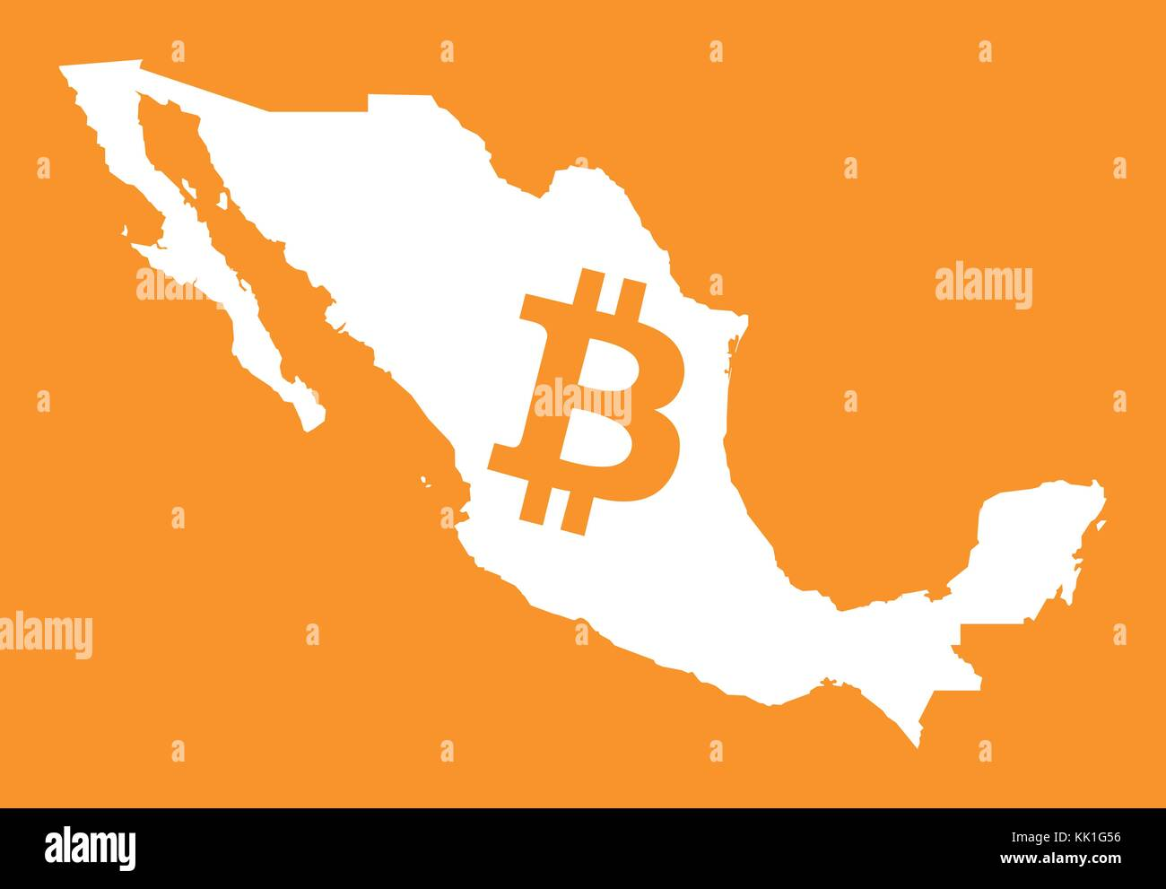 Bank of mexico sign stock photos bank of mexico sign stock mexico map with bitcoin crypto currency symbol illustration stock image biocorpaavc