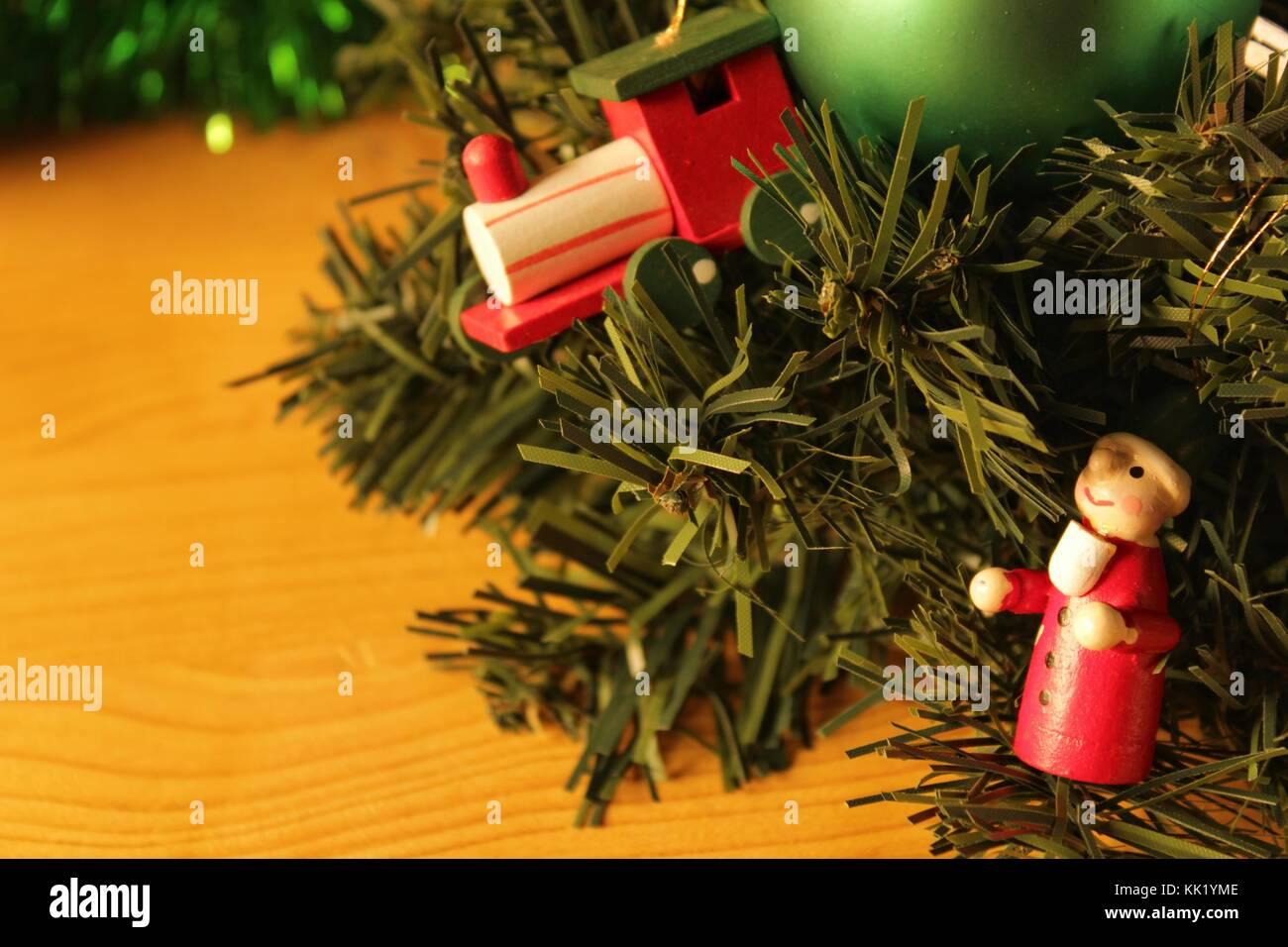 christmas tree decoration teddy bear christmas bauble train star tinsel