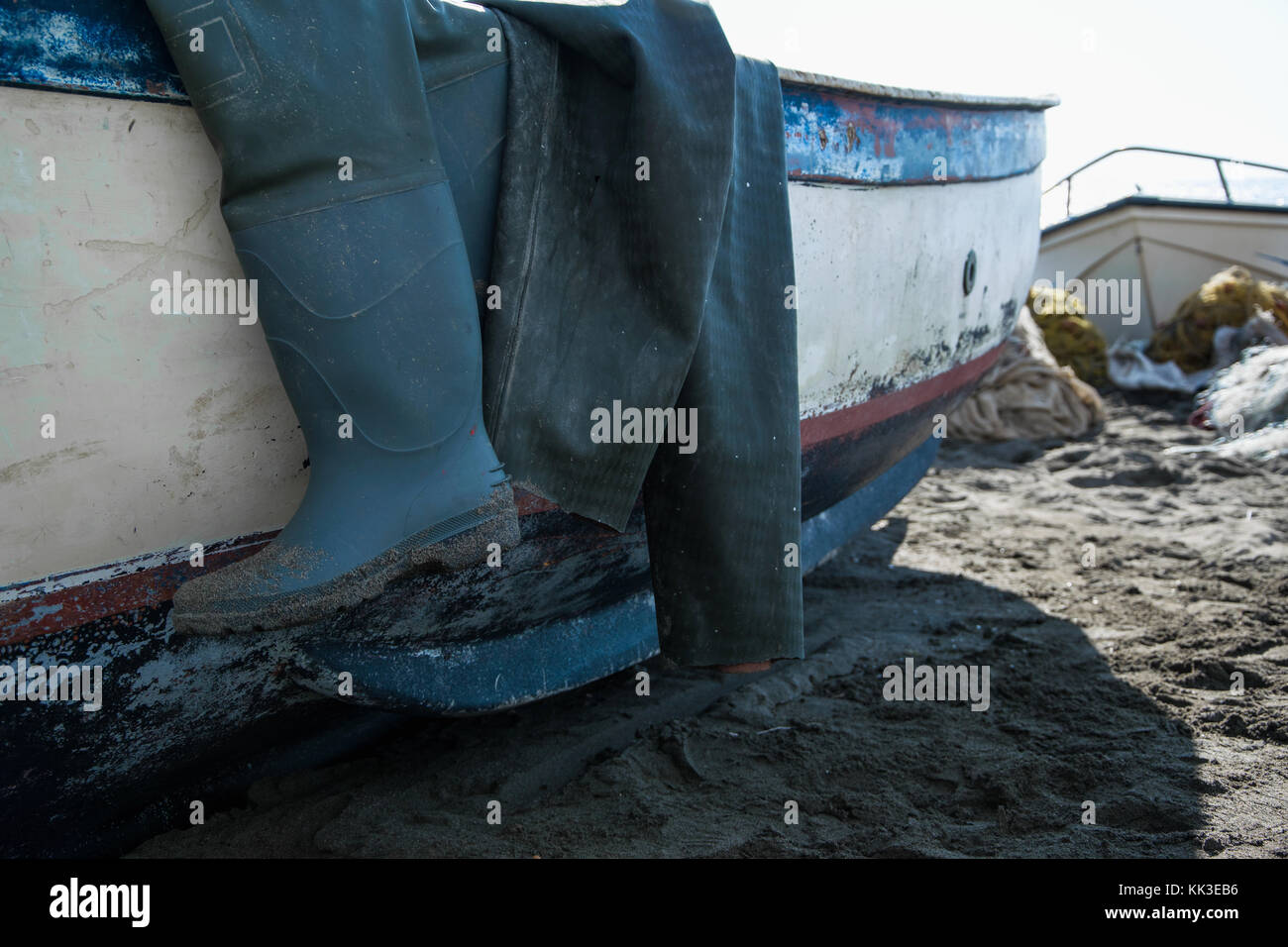 Concrete boots stock photos concrete boots stock images for Fishing shoes for the boat