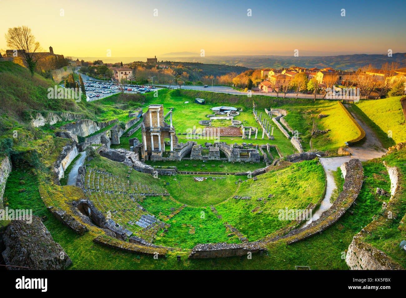 Volterra roman theatre ruins at sunset 1st century bce tuscany volterra roman theatre ruins at sunset 1st century bce tuscany italy europe publicscrutiny Images