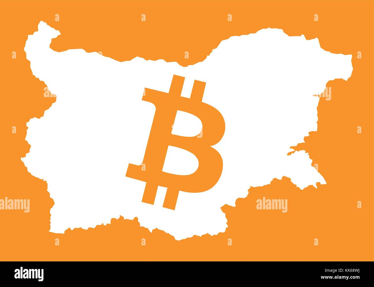 Exchange currency bulgaria stock photos exchange currency bulgaria map with bitcoin crypto currency symbol illustration stock image biocorpaavc