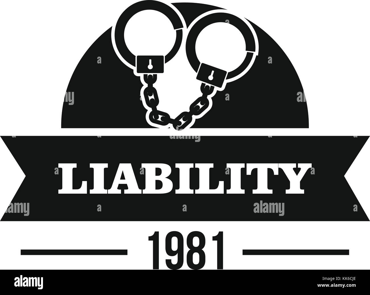 liability logo simple black style stock vector art illustration