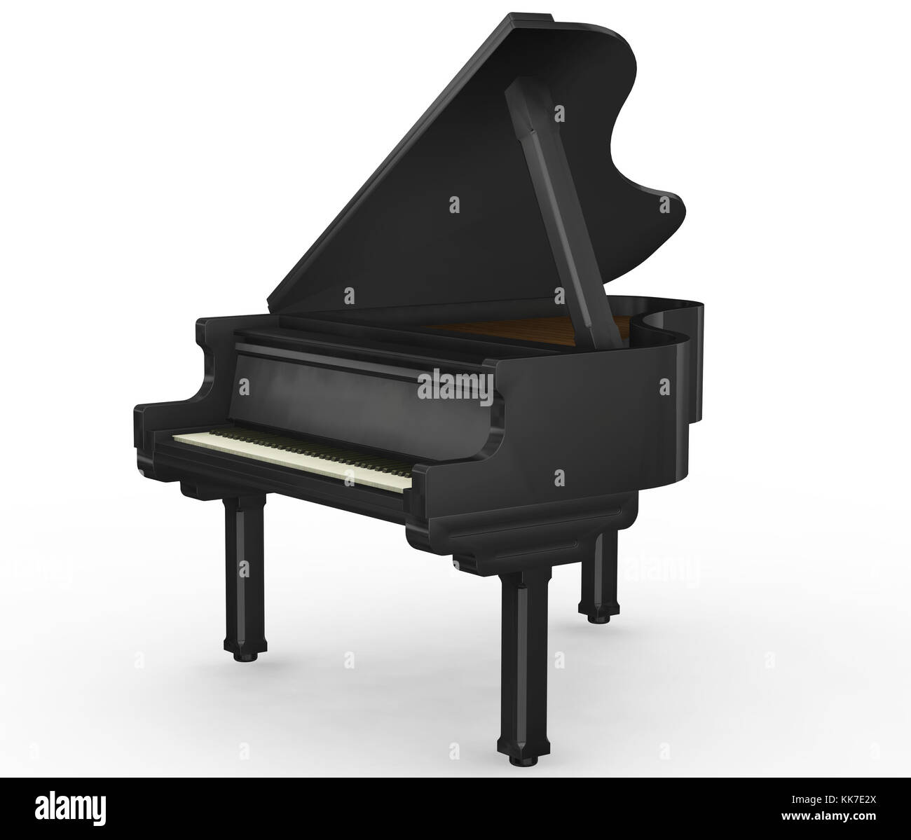 Grand Piano 3d Stock Photos & Grand Piano 3d Stock Images - Alamy
