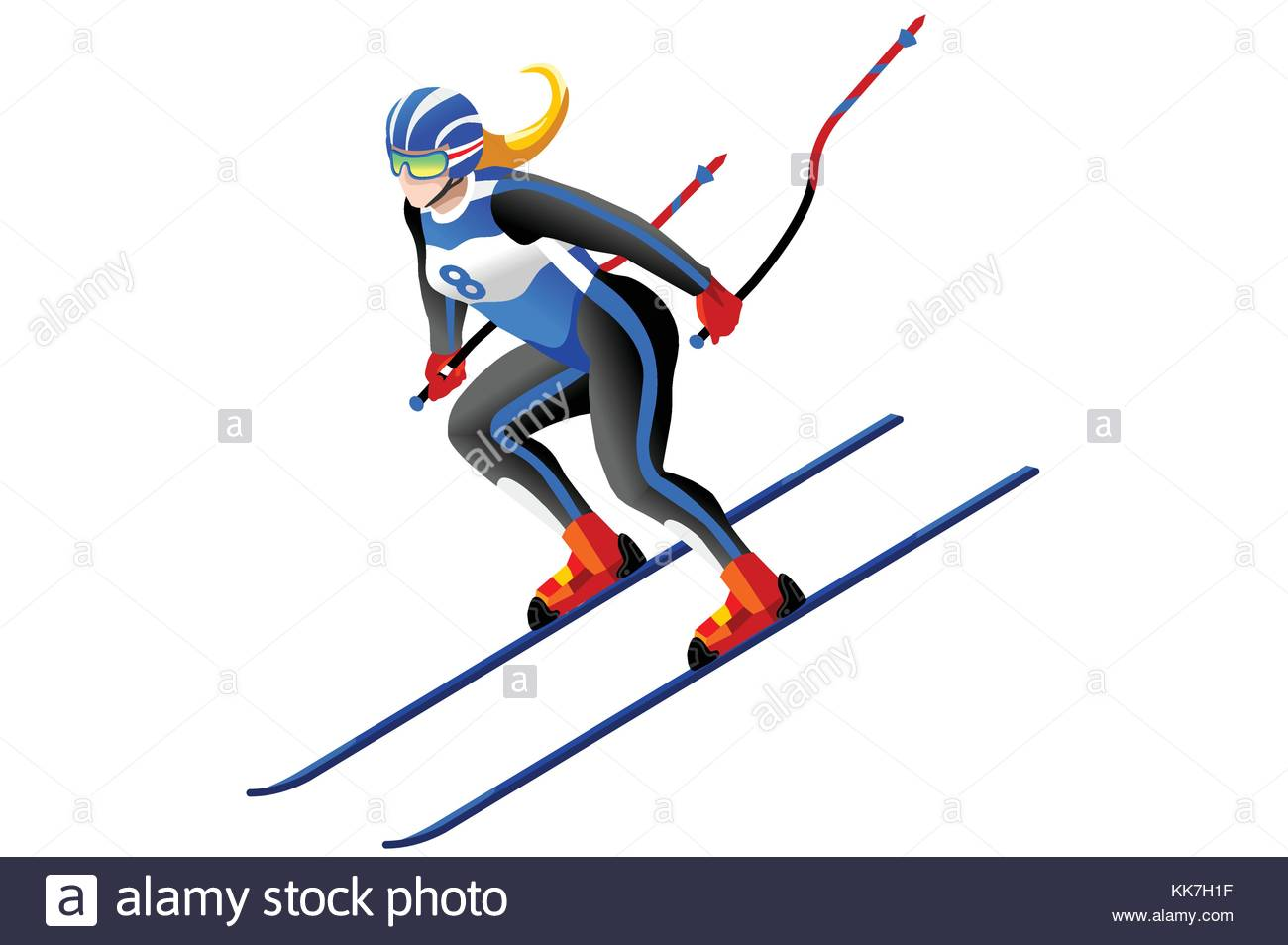 Skiing vector