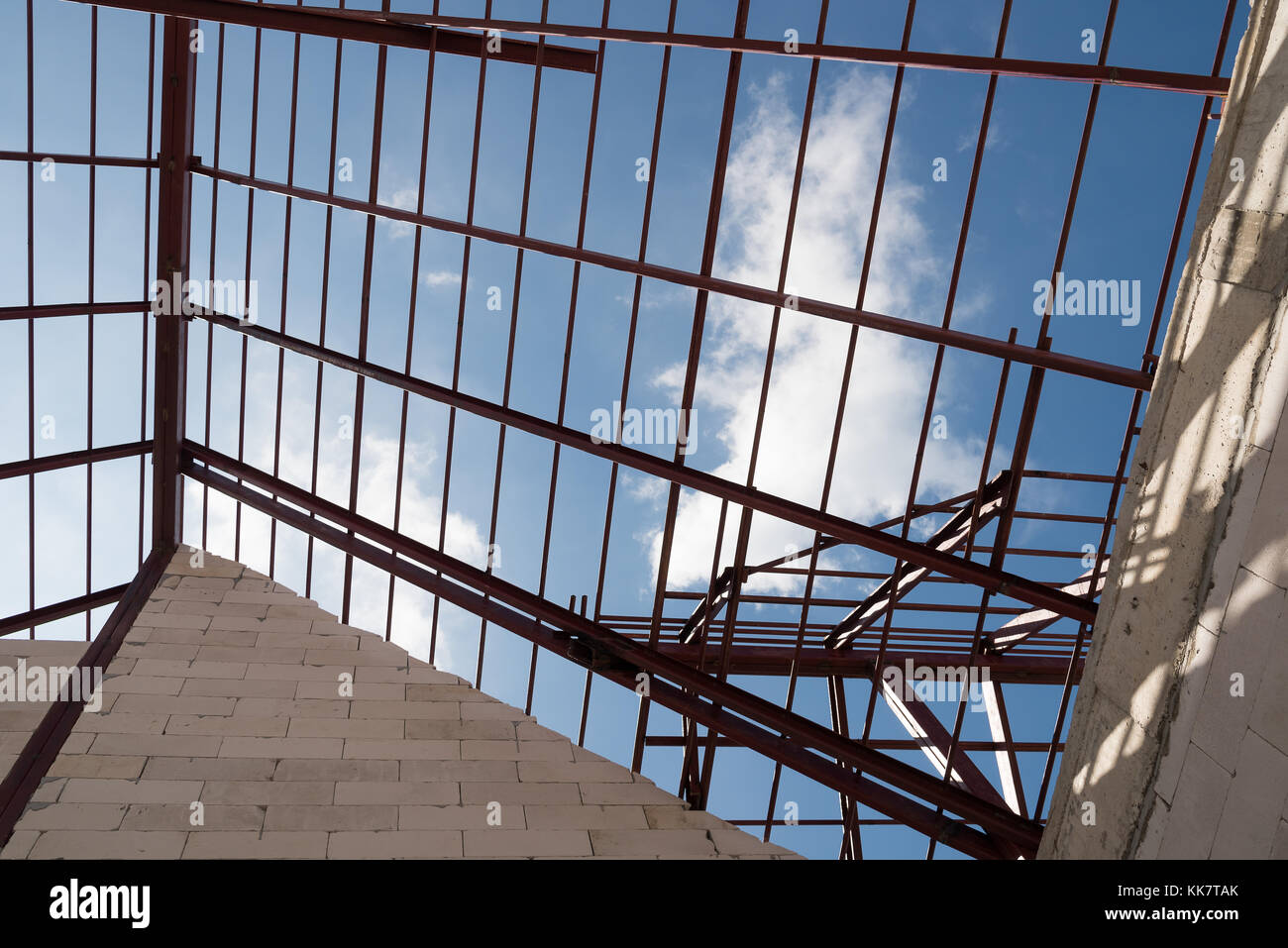 Steel Roof Truss Stock Photos Amp Steel Roof Truss Stock