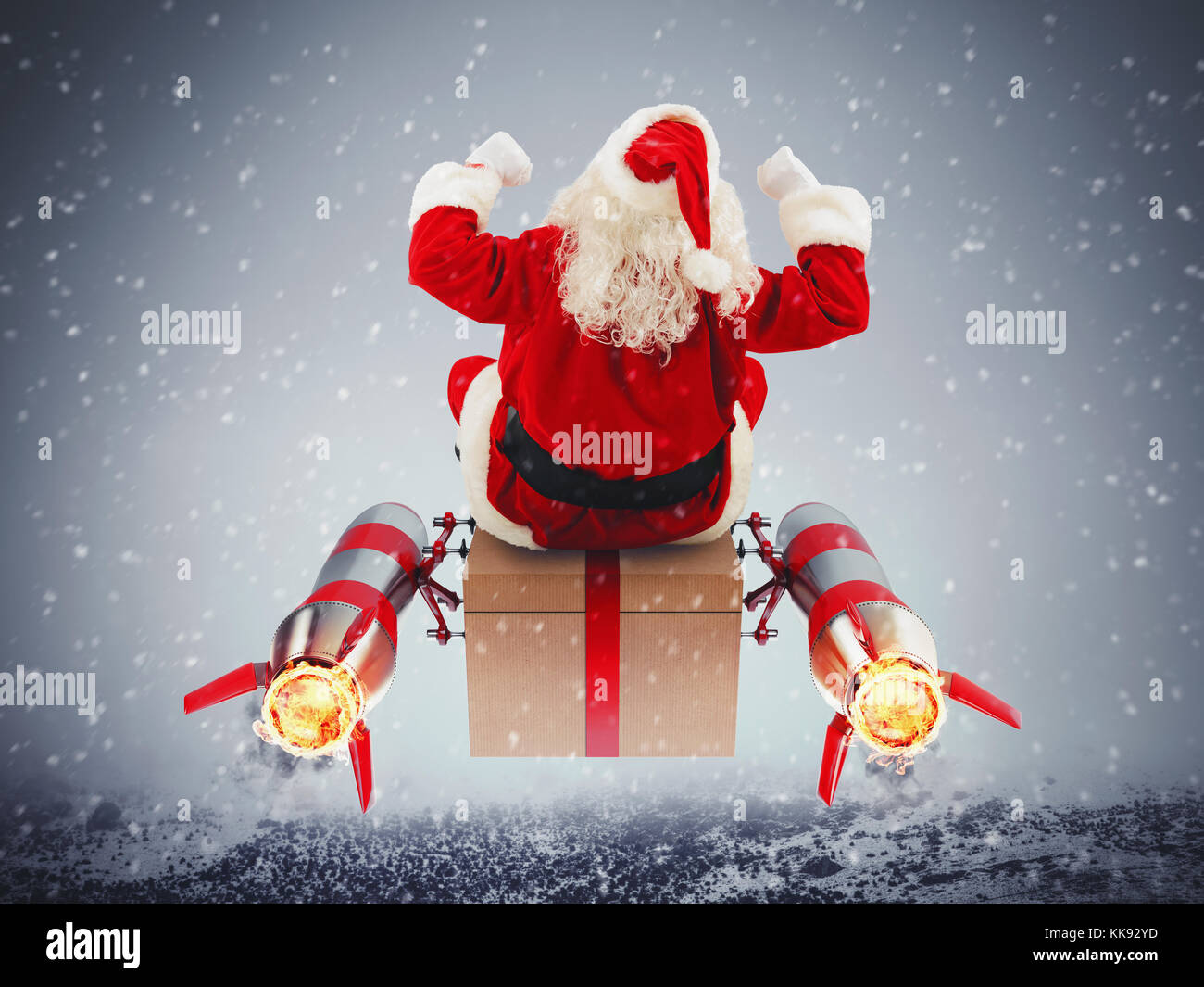 Fast delivery of Christmas gifts Stock Photo: 166771681 - Alamy