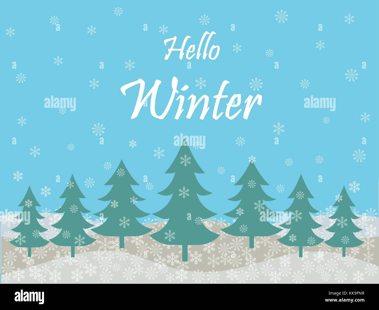 Ordinaire Hello Winter Holiday Season Background
