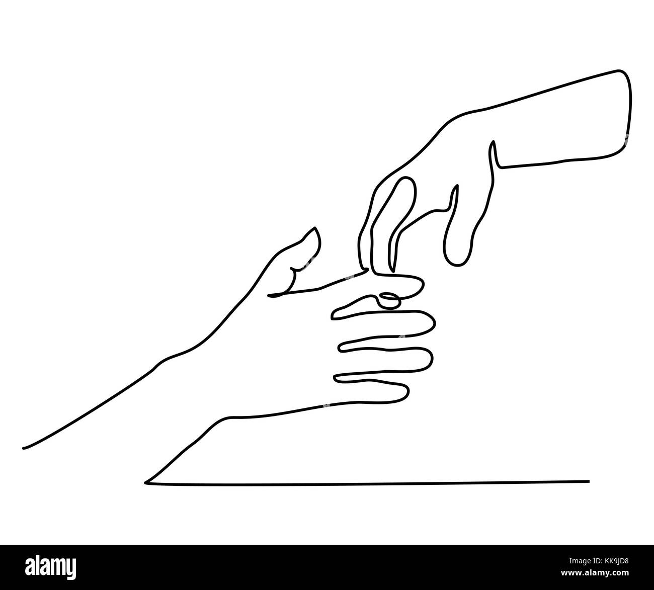 Line Drawing Holding Hands : Adoption symbol stock photos