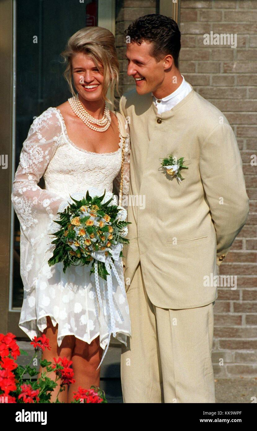 Michael Schumacher And His Wife Corinna Happily After The Wedding