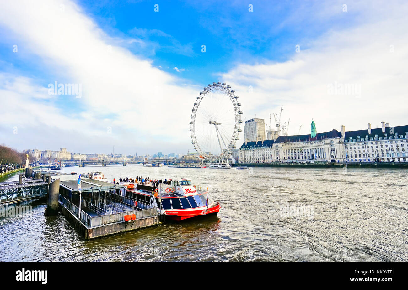 Landmark symbol symbolic ferris wheel stock photos landmark london uk february 5 2017 view of the river thames with london biocorpaavc