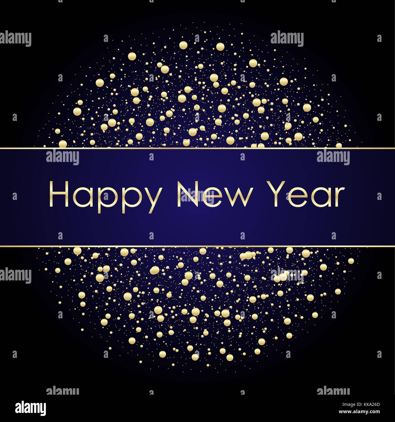 vector 2018 new year black background with gold glitter confetti splatter texture festive premium design template for holiday greeting card invitation