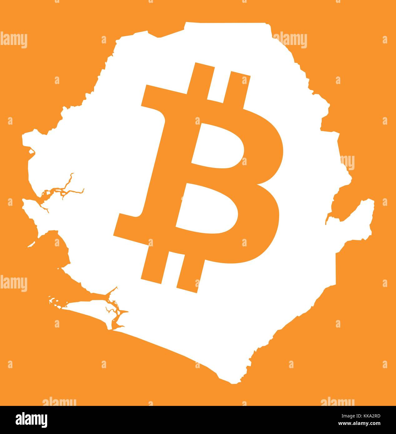 Bank of sierra leone stock photos bank of sierra leone stock sierra leone map with bitcoin crypto currency symbol illustration stock image biocorpaavc