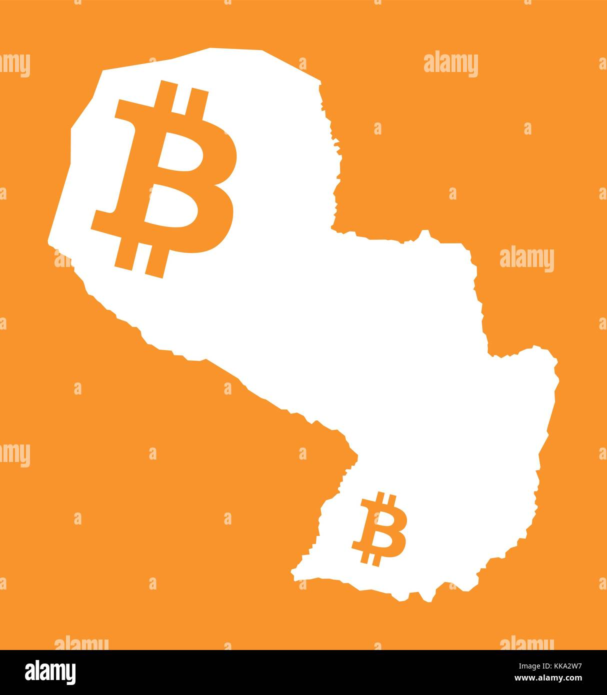 Paraguay coin stock photos paraguay coin stock images alamy paraguay map with bitcoin crypto currency symbol illustration stock image buycottarizona