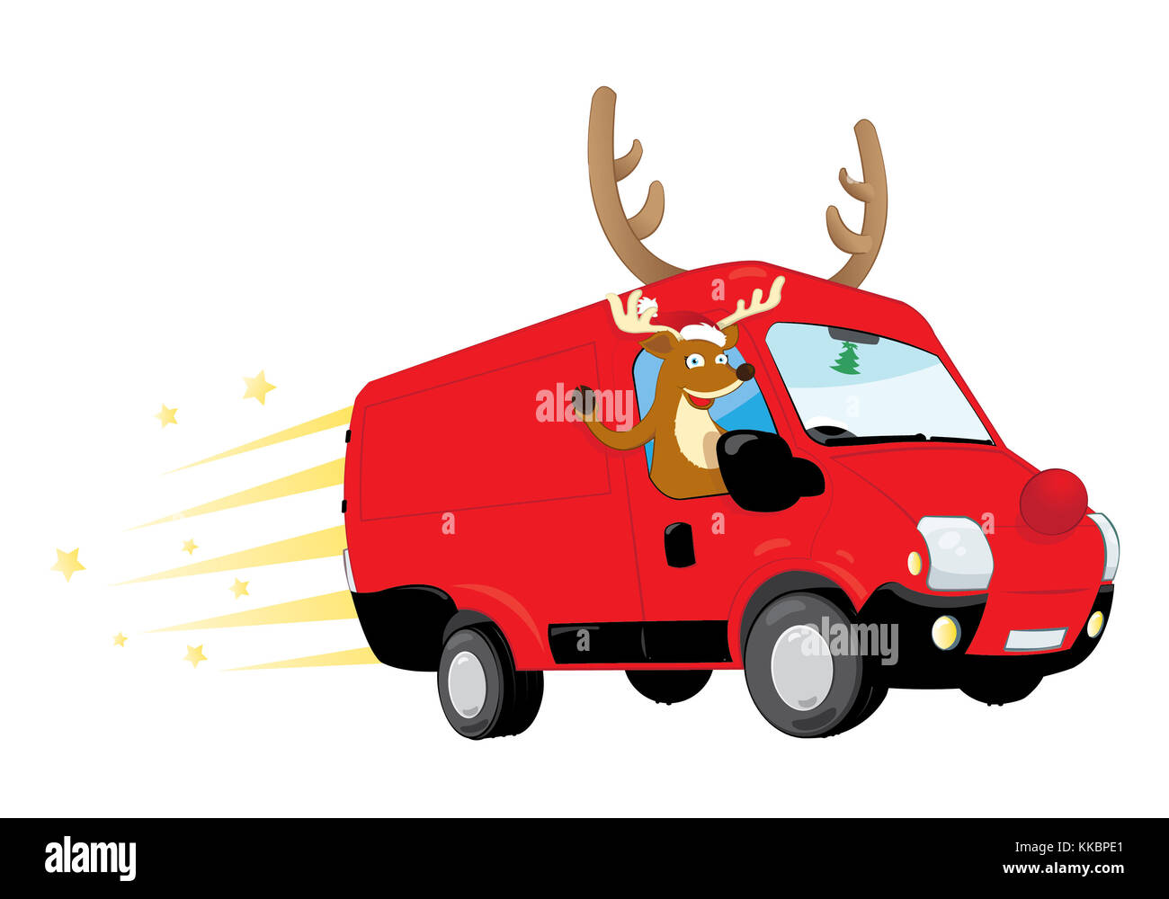 Car Christmas Tree Funny Stock Photos Amp Car Christmas Tree