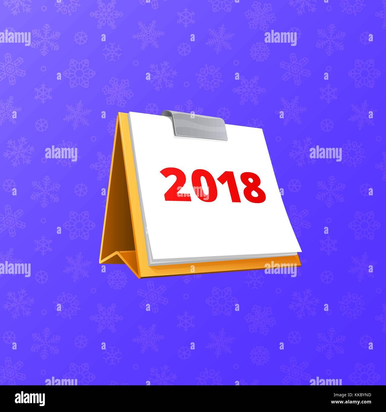 flip flop 2018 calendar vector
