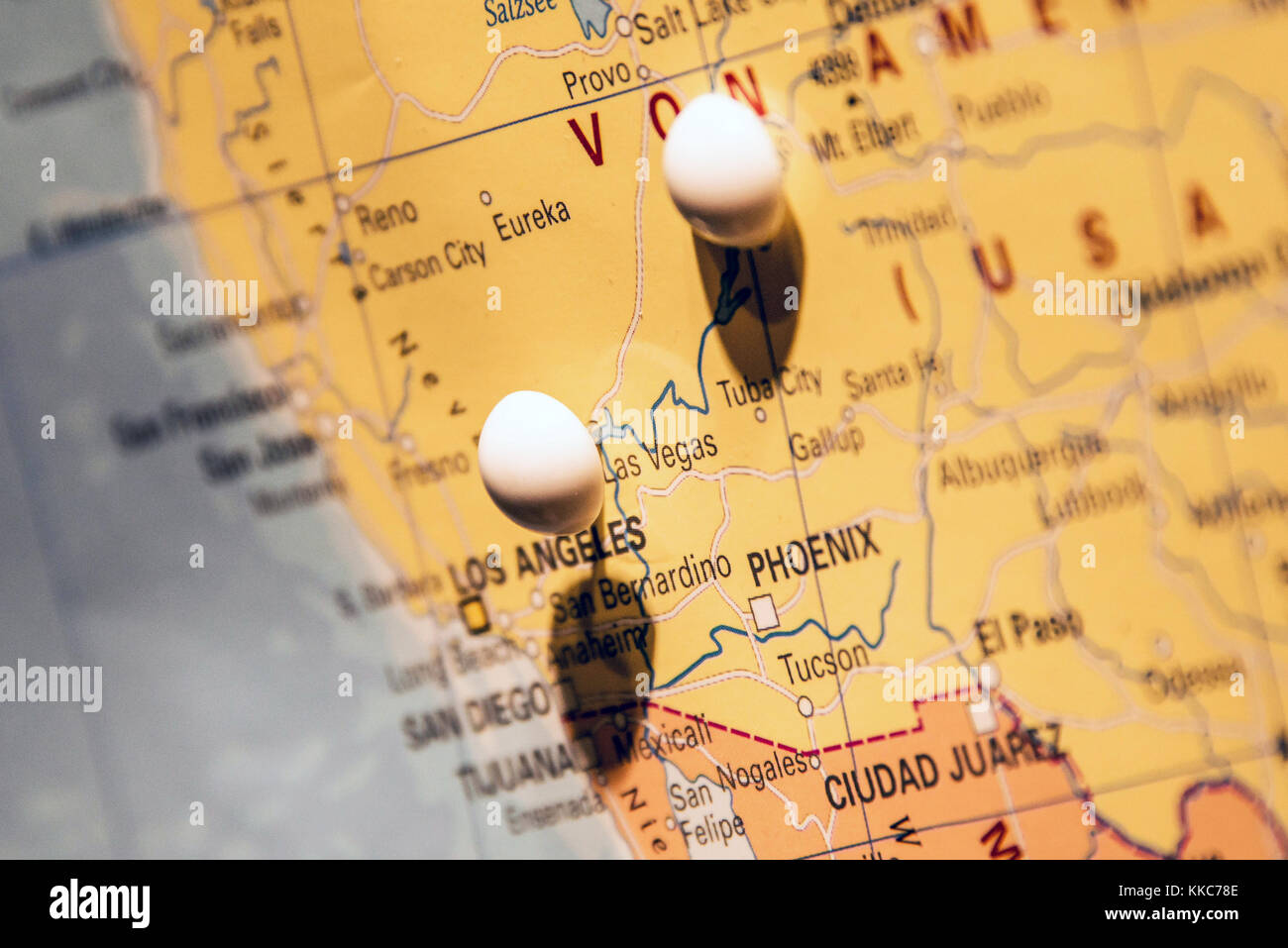 Picture of world map travel concept with many pushpins pins west picture of world map travel concept with many pushpins pins west coast las vegas gumiabroncs Choice Image