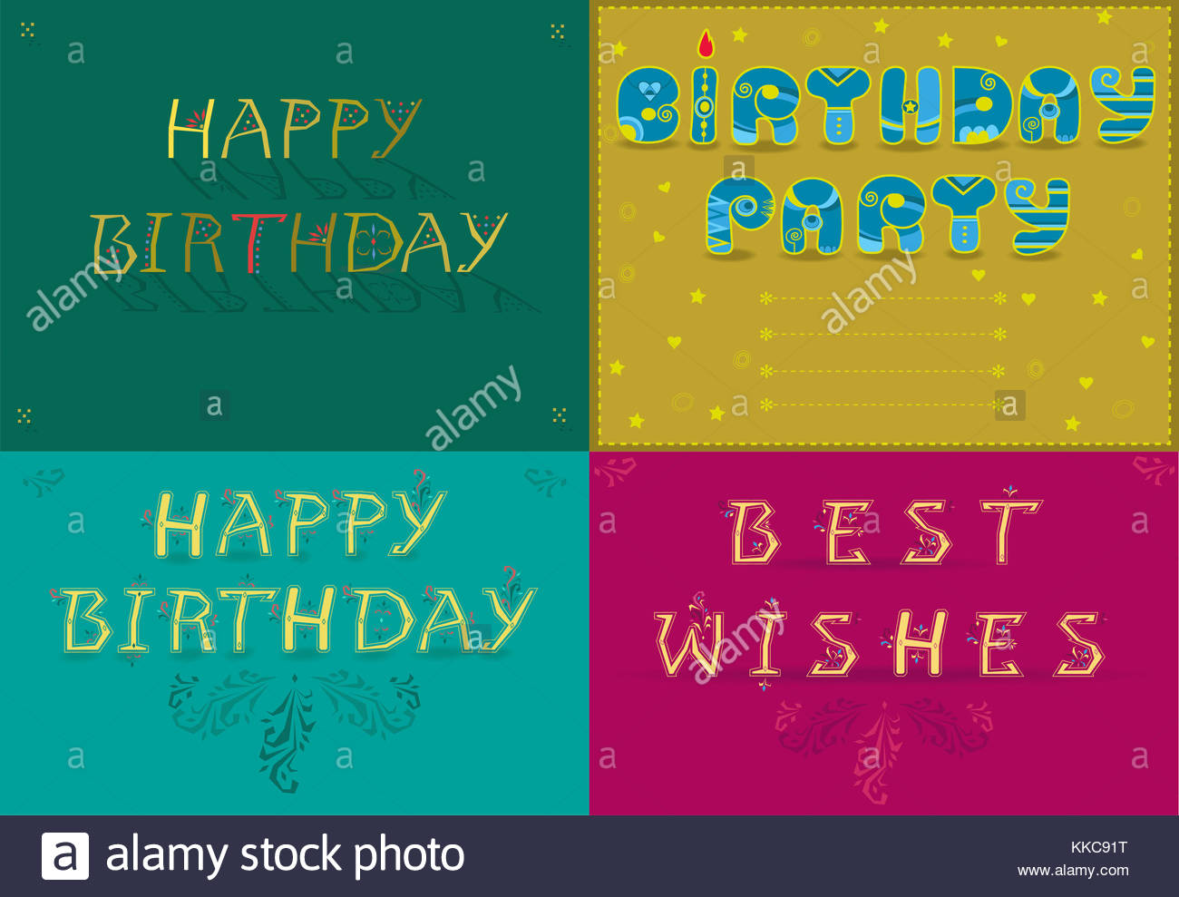 Greeting Cards With Text Happy Birthday Best Wishes By Artistic